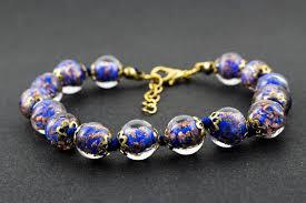 murano bead bracelet images Murano glass bracelet aventurina lapis beads venice jpg