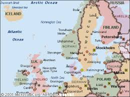 map northern europe scandinavia cruise connections destinations europe northern