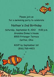 deep blue sea birthday party invitations