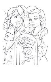 belle handsome beast rose princess coloring pages printable book