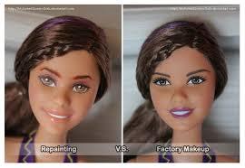 repainting factory makeup barbie mysweetqueen dolls