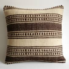 Restoration Hardware Throw Sukan Organic Modern Bohemian Throw Pillow Handwoven Wool