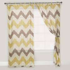 curtains yellow and gray floral window curtain valance treatment