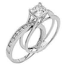 wedding band and engagement ring white gold wedding rings ebay