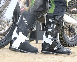 high end motorcycle boots fly sector boots dirt bike test