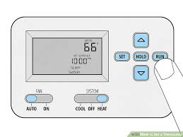 furnace fan on or auto in winter how to set a thermostat 14 steps with pictures wikihow