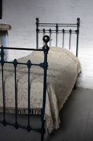 classic single victorian brass and iron bed restored in farrow and