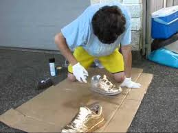 Metallic Gold Fabric Spray Paint - spray painting shoes youtube