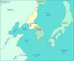 map us and korea map of korea