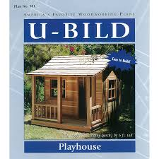 shop u bild playhouse woodworking plan at lowes com