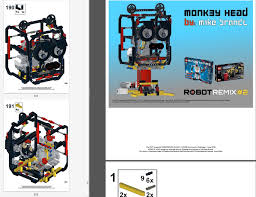 robotremix2 building instructions 1 of 4 monk3y head the nxt