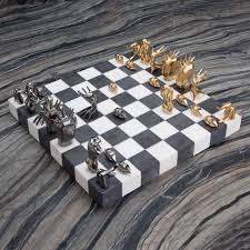 dichotomy chess set kelly wearstler chess sets and chess