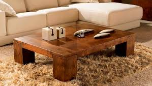 Living Room Coffee Table Furniture Collection In Wood Square Coffee Table With