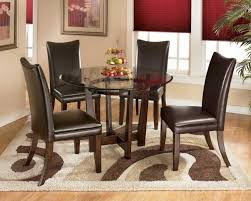 Dark Red Dining Room by Get Simple Look With Black Dining Room Sets Homesfeed