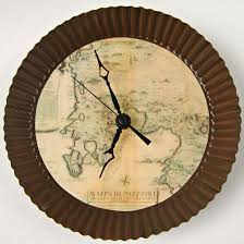 themed wall clock make your own clock with an antique map theme