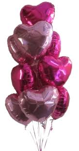 heart balloon bouquet pink hearts helium balloons perth heart balloons awesome