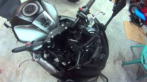 how to fairing front end removal 2012 2015 ninja 650 youtube