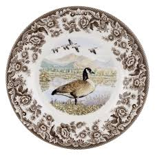 dining spode woodland canada goose dinner plate with spode