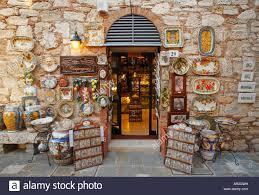 bagno shop souvenir shop in bagno vignoni tuscany italy stock photo
