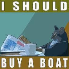 Cat Buy A Boat Meme - i should buy a boat cat meme v 1 canvas prints by dbatista
