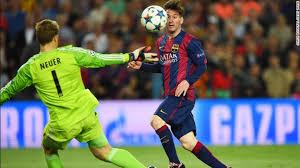 Lionel Messi Leg Chions League Guardiola Cnn