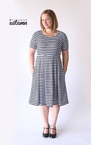 dress pattern fit and flare sew the perfect knit fit flare dress without a pattern it s