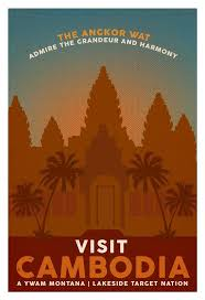 Montana Travel Asia images Cambodia vintage poster google search vintage cambodia in jpg