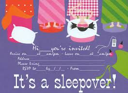 Birthday Cards Invitations Printable Sleepover Party Invitation That Is Free To Print Just Click On The