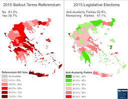 Greek Map Greek Referendum Results Outpaced Anti Austerity Parties U2013 Mci Maps