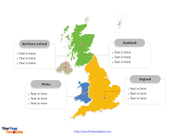 free united kingdom powerpoint map free powerpoint templates