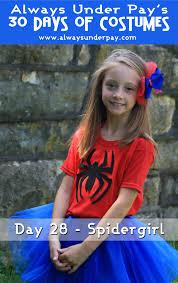 day 28 u2013 spidergirl diy halloween costume tutorial cheap easy