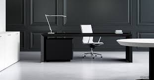 Black Desk Office Black Office Desk Suited In Every Office Designinyou Decor