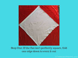 Flag Folded Into Triangle Folding Flat Diapers The Kite Fold Themonarchmommy