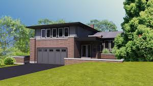 lakeview prairie style split level dame architecture dame