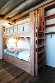 Bunk Cabin Kids Rustic With White Tongue And Groove Walls Kids - Kids built in bunk beds