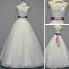 wedding dresses ivory and purple