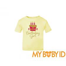 birthday girl birthday girl t shirt in a gold glitter design
