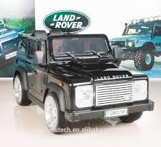 truck car black painting black land rover defender kids ride on truck car 12v