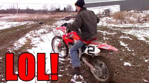 youtube motocross racing jack first time on 450 dirt bike youtube