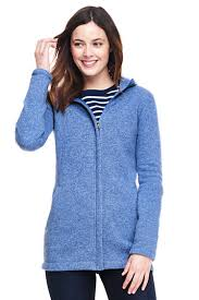 s hooded sweater fleece coat from lands end