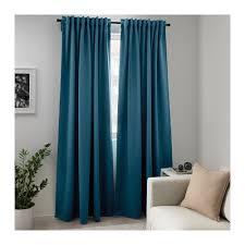 Blue Green Curtains Majgull Block Out Curtains 1 Pair Blue Green 145x250 Cm Ikea
