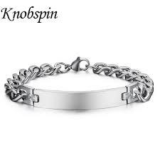 silver monogram bracelet men women monogram bracelet stainless steel name bracelet customize