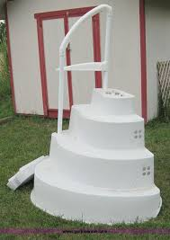 wedding cake pool steps item 3845 sold august 14 location on