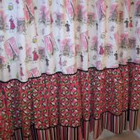 Shabby Chic Shower Curtains Shabby Chic Blue Curtains With Rose Pattern Combined With White