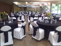 Black And White Chair Covers White Chair Covers Montreal Chair Covers White Wedding Chair