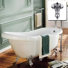 bathroom cozy dark kahrs flooring with cozy clawfoot tub shower