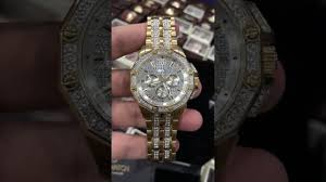 swarovski crystal bracelet watches images Bulova men 39 s 98c126 swarovski crystal pave bracelet watch jpg