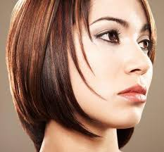 dimensional haircut and color all over chestnut brown with level