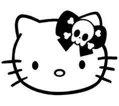 hello kitty bow coloring pages coloring kids pinterest