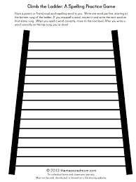 climb the ladder a printable spelling game for any word list
